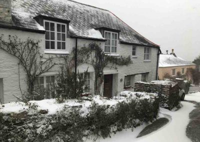 Dittisham under Snow