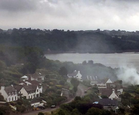 Smoky bonfire in Dittisham